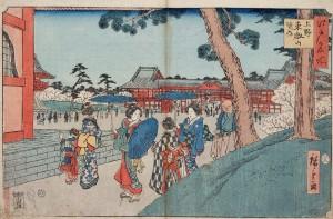 UenoKaneiji「上野東叡山の境内」 ・広重1853_2