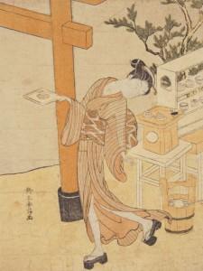 """Kasamori O-Sen holding dango"""